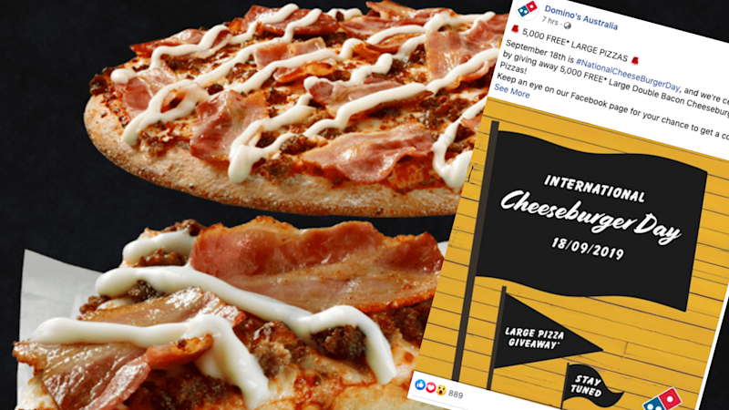 Pictured: Domino's Pizza and free pizza promotion. Images: Domino's