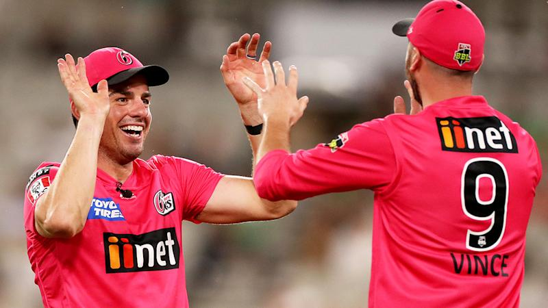 Pictured here, the Sydney Sixers became the first team to qualify for the Big Bash grand final.