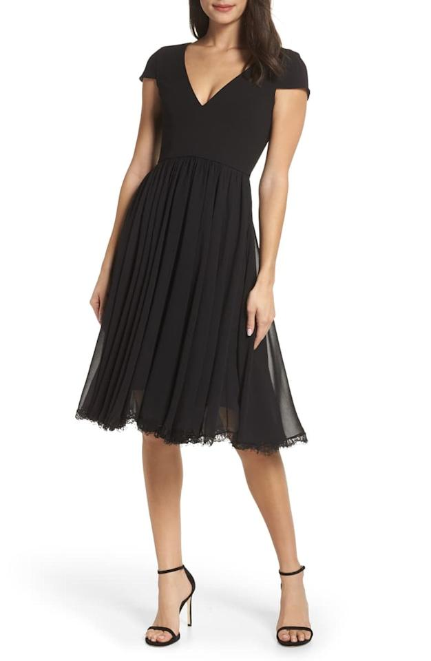 "<p>This <a href=""https://www.popsugar.com/buy/Dress-Population-Corey-Chiffon-Fit-amp-Flare-Dress-545736?p_name=Dress%20the%20Population%20Corey%20Chiffon%20Fit%20%26amp%3B%20Flare%20Dress&retailer=shop.nordstrom.com&pid=545736&price=198&evar1=fab%3Aus&evar9=37043524&evar98=https%3A%2F%2Fwww.popsugar.com%2Ffashion%2Fphoto-gallery%2F37043524%2Fimage%2F47238608%2FDress-Population-Corey-Chiffon-Fit-Flare-Dress&list1=shopping%2Cwedding%2Cdresses%2Cspring%2Csummer%2Cspring%20fashion%2Csummer%20fashion&prop13=mobile&pdata=1"" rel=""nofollow"" data-shoppable-link=""1"" target=""_blank"" class=""ga-track"" data-ga-category=""Related"" data-ga-label=""https://shop.nordstrom.com/s/dress-the-population-corey-chiffon-fit-flare-dress/5077685/full?origin=category-personalizedsort&amp;breadcrumb=Home%2FWomen%2FClothing%2FDresses&amp;color=midnight%20blue"" data-ga-action=""In-Line Links"">Dress the Population Corey Chiffon Fit &amp; Flare Dress </a> ($198) is great for events.</p>"