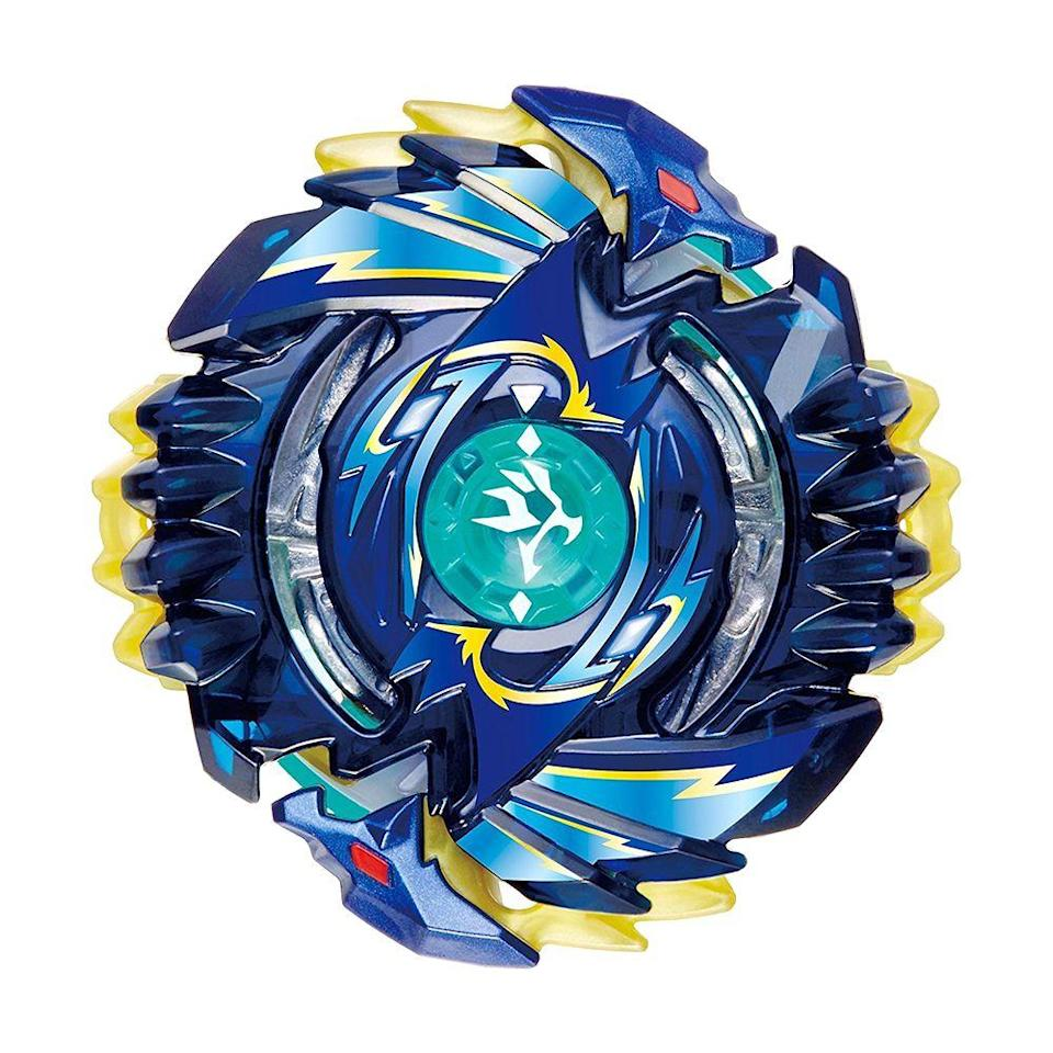 "<p><a class=""link rapid-noclick-resp"" href=""https://www.amazon.com/Beyblade-Random-Booster-Shelter-Regulus-5S-Tw/dp/B075KFLJSX/ref=sr_1_4?tag=syn-yahoo-20&ascsubtag=%5Bartid%7C10063.g.34738490%5Bsrc%7Cyahoo-us"" rel=""nofollow noopener"" target=""_blank"" data-ylk=""slk:BUY NOW"">BUY NOW</a><br></p><p>Beyblade spinning tops were all the rage in 2002. The toys, which were first launched in Korea, were based on the anime TV show by the same name. When you pull the jagged chord, the spinner launched into a <a href=""https://www.amazon.com/Beyblade-B9499-Burst-Beystadium/dp/B01F6VS3ZG?tag=syn-yahoo-20&ascsubtag=%5Bartid%7C10063.g.34738490%5Bsrc%7Cyahoo-us"" rel=""nofollow noopener"" target=""_blank"" data-ylk=""slk:circular arena"" class=""link rapid-noclick-resp"">circular arena</a> where you'd face off against other Beyblades.</p>"