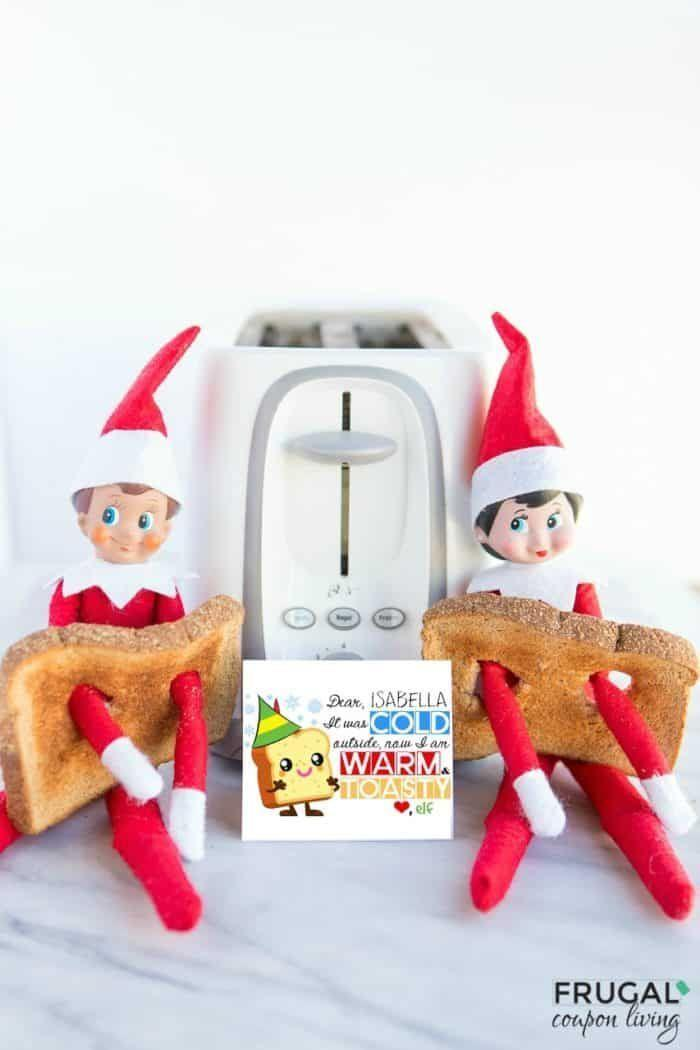 """<p>Breakfast is good for more than just satisfying your kids' appetite, you know. It can also be an excellent Elf warmer-upper!</p><p><strong>Get the tutorial at <a href=""""https://www.frugalcouponliving.com/elf-on-the-shelf-ideas/"""" rel=""""nofollow noopener"""" target=""""_blank"""" data-ylk=""""slk:Frugal Coupon Living"""" class=""""link rapid-noclick-resp"""">Frugal Coupon Living</a>.</strong></p><p><strong><a class=""""link rapid-noclick-resp"""" href=""""https://go.redirectingat.com?id=74968X1596630&url=https%3A%2F%2Fwww.walmart.com%2Fbrowse%2Fhome%2Ftoasters-ovens%2F4044_90548_90546_90774&sref=https%3A%2F%2Fwww.countryliving.com%2Flife%2Fkids-pets%2Fg29656008%2Felf-on-the-shelf-return-ideas%2F"""" rel=""""nofollow noopener"""" target=""""_blank"""" data-ylk=""""slk:SHOP TOASTERS"""">SHOP TOASTERS</a></strong></p>"""
