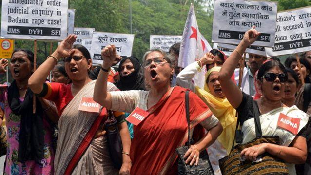 Women of India protest against the ingrained rape culture which sees hundreds of victims every year. Photo: Getty