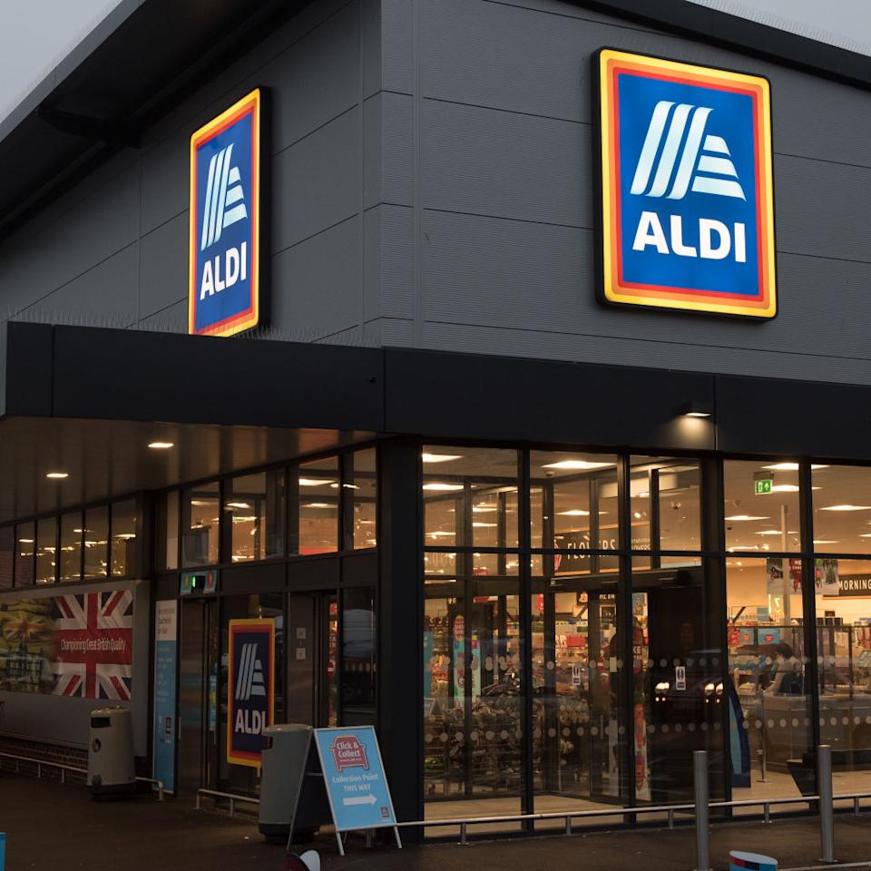 A general view of an Aldi supermarket in Southend on Sea, England.