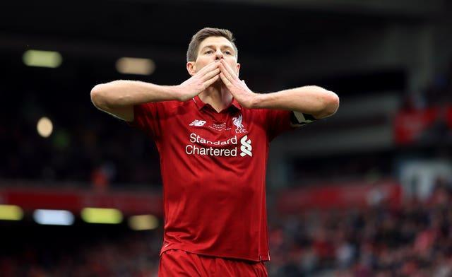 Former Liverpool captain Gerrard is one man in Salah's sights