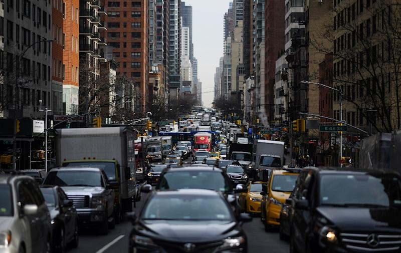 Under a proposed New York state law, most fossil fuel burning thermal plants will need to shut down and vehicles will need to produce zero emissions over the next three decades (AFP Photo/Johannes EISELE)