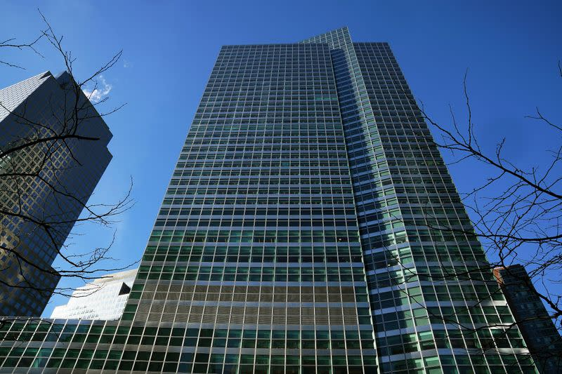 The Goldman Sachs Headquarters building is pictured in the Manhattan borough of New York City