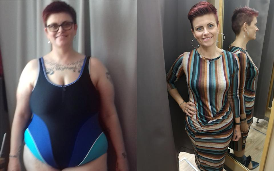 Tina Cotton lost over nine stone after a health warning from her local GP [Photo: SWNS]