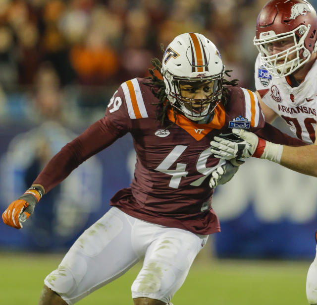Virginia Tech linebacker Tremaine Edmunds is a first-round talent at linebacker. (AP)
