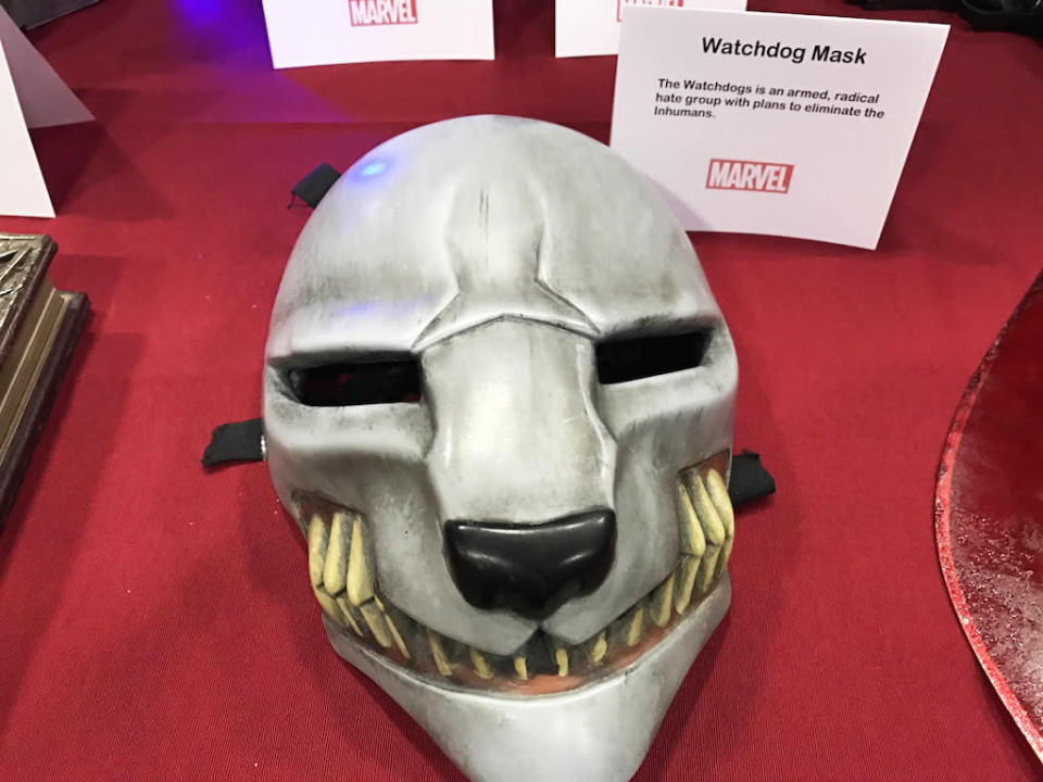 <p><i>The Watchdogs is an armed, radical hate group with plans to eliminate the Inhumans.</i><br>(Credit: Yahoo TV) </p>