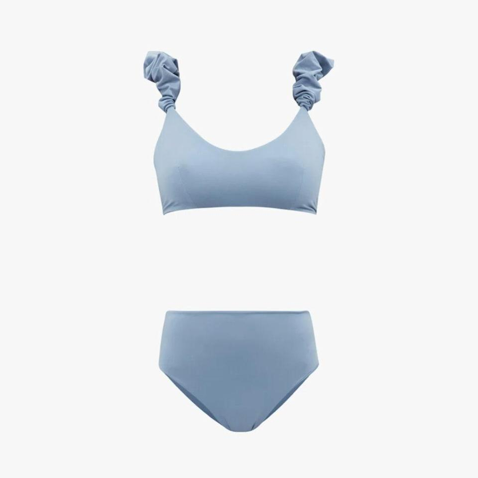 """$249, MATCHESFASHION.COM. <a href=""""https://www.matchesfashion.com/us/products/Maygel-Coronel-Cotta-ruffled-bikini-1426780"""" rel=""""nofollow noopener"""" target=""""_blank"""" data-ylk=""""slk:Get it now!"""" class=""""link rapid-noclick-resp"""">Get it now!</a>"""