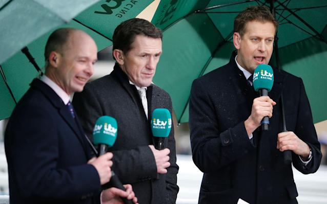 <span>ITV's new horse racing team included Ed Chamberlin and AP McCoy</span> <span>Credit: Getty Images </span>