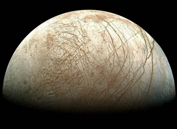 Jupiter's Moon Europa May Have 'Spikes of Ice'