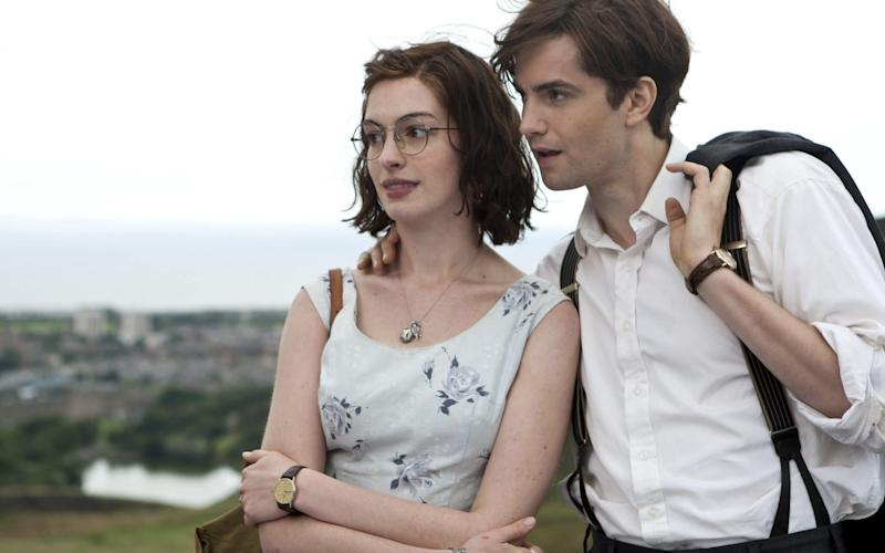 Anne Hathaway and Jim Sturgess in the romance One Day, in which she plays a Yorkshire woman - Film Stills