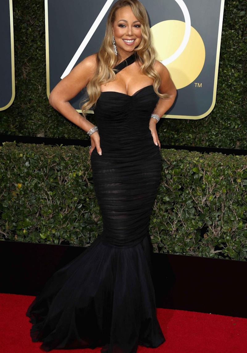 Mariah Carey showed off her reported