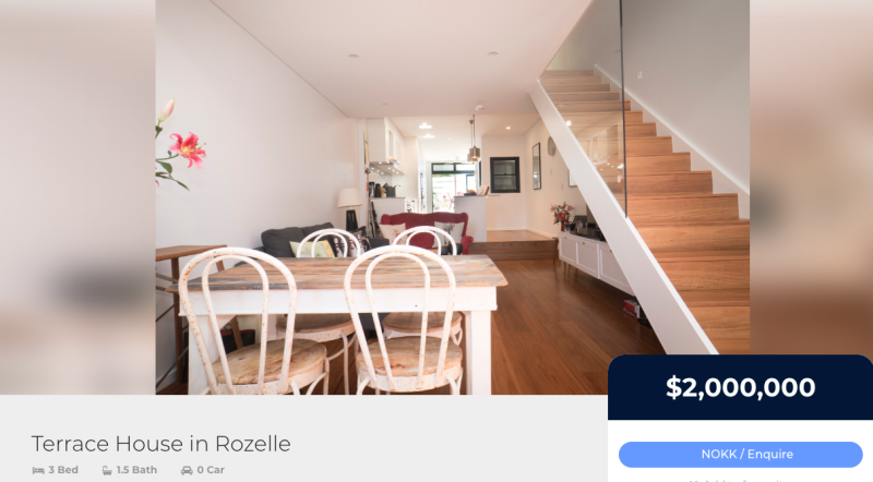 Terrace house in Rozelle on the Nokk platform.