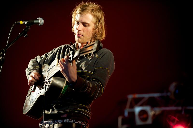 LONDON, UNITED KINGDOM - JUNE 12: Johnny Flynn headlines the folk stage at Get Loaded In The Park at Clapham Common on June 12, 2011 in London, England. (Photo by Hayley Madden/WireImage)