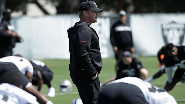 """The Raiders barely began training camp before coach Jon Gruden gave the """"Hard Knocks"""" crew absolute gold."""