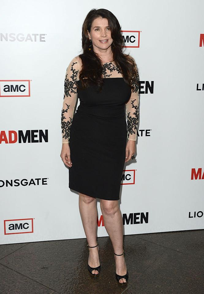 "Julia Ormond arrives at the Premiere of AMC's ""Mad Men"" Season 6 at DGA Theater on March 20, 2013 in Los Angeles, California."