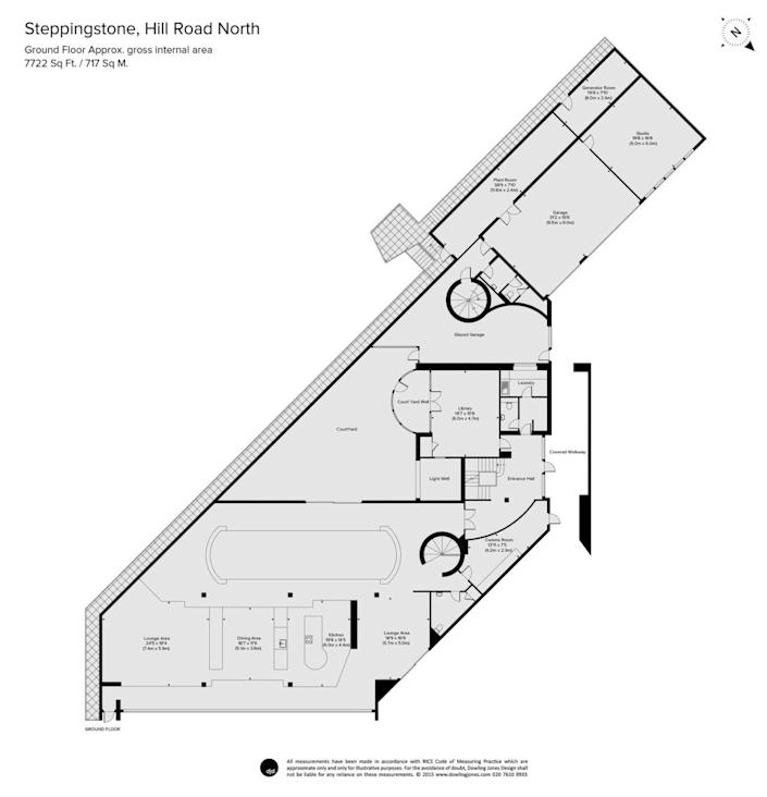<p>This floor plan and those that follow give you an idea of how the bunker-like super-mansion is laid out. This is the main living area, below ground.<br></p>