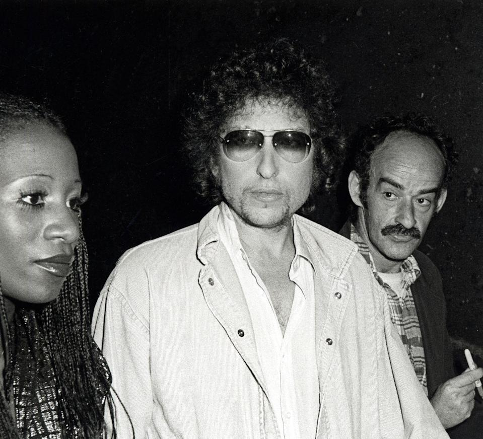 <p>Bob Dylan at a Taping of <em>Saturday Night Live</em> at the NBC Building in New York City, 1979.</p>
