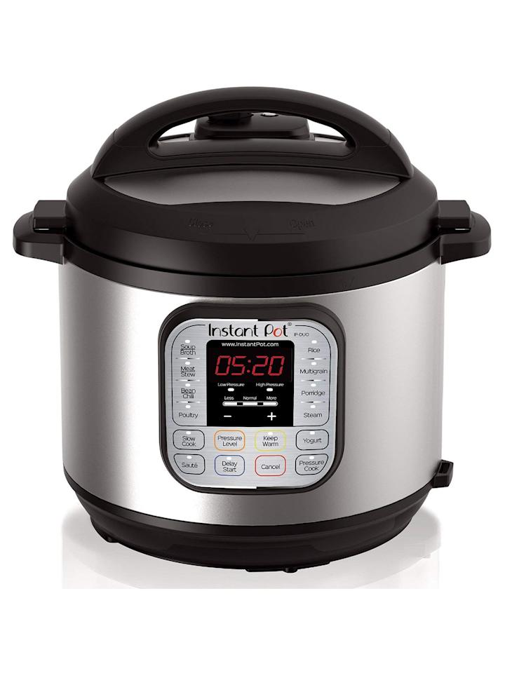 "<p>Instant Pot was the ""it"" present last year—but if you still didn't manage to get one, now's your chance. For just $70, you'll want to order one for yourself and anyone else on your list who doesn't yet own this must-have appliance.</p> <p><strong>To buy:</strong> $70 (originally $100), <a href=""http://www.amazon.com/Instant-Pot-Multi-Use-Programmable-Pressure/dp/B00FLYWNYQ/?ie=UTF8&camp=1789&creative=9325&linkCode=as2&creativeASIN=B00FLYWNYQ&tag=reasim03-20&ascsubtag=d41d8cd98f00b204e9800998ecf8427e"" target=""_blank"">amazon.com</a>. </p>"