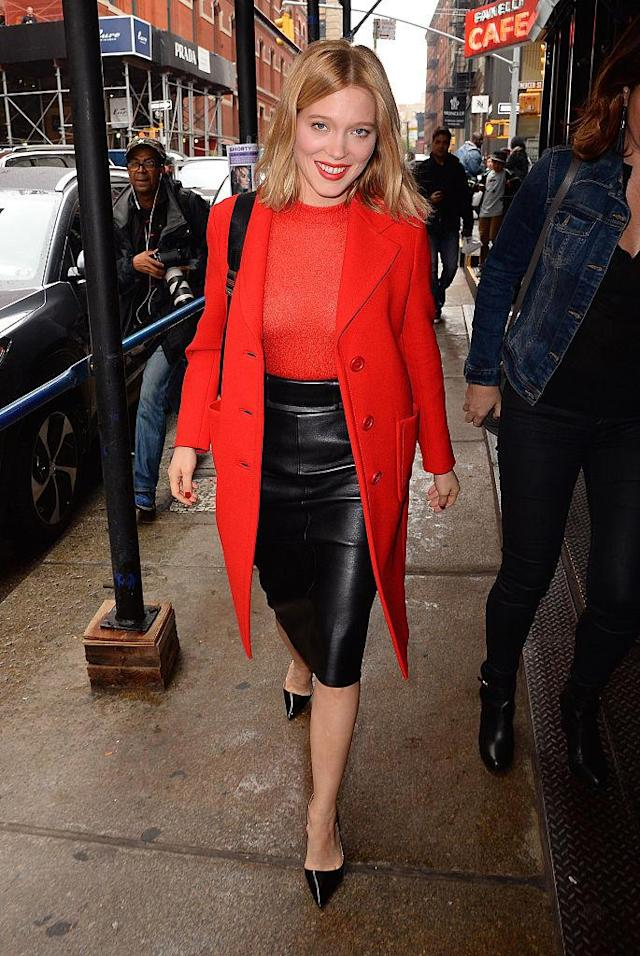 "<p>Known for her role in ""Blue Is the Warmest Color,"" Seydoux knows red is the chicest shade. (Photo: Getty Images) </p>"