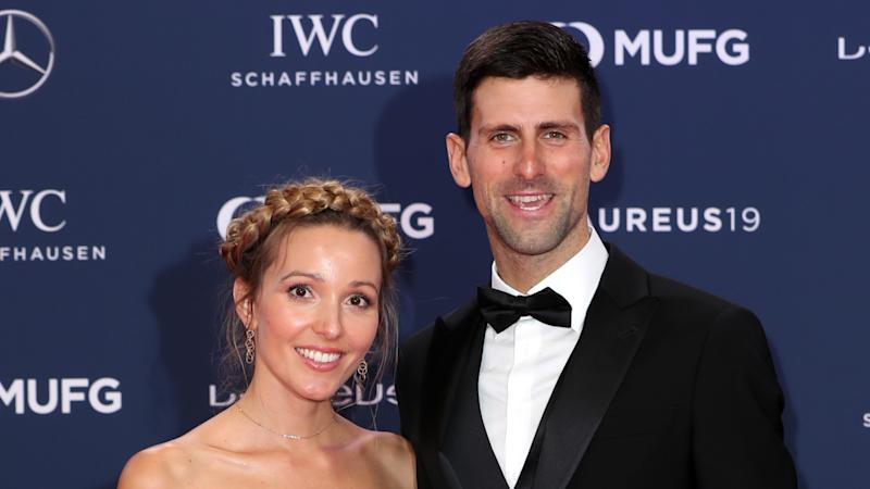 Djokovic and wife complete '100 volley challenge'