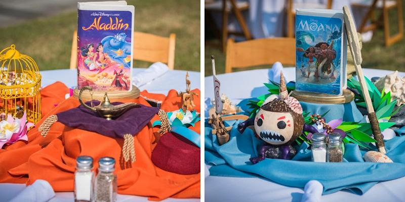 Some of the centerpieces. (Tiffany Brandt Photography)