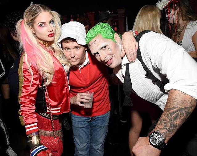 <p>Hey, little buddy! The former <i>Entourage</i> star (center) recycled his Gilligan costume from last year. It's a crowd-pleaser! (Photo: Michael Kovac/Getty Images) </p>