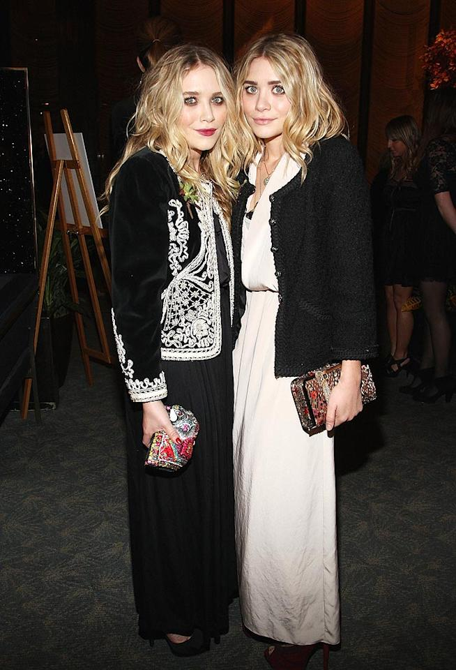 "Apparently budding designers Mary-Kate and Ashley Olsen think it's fashionable to dress like little old ladies. Guess what? It's not. Theo Wargo/<a href=""http://www.wireimage.com"" target=""new"">WireImage.com</a> - October 21, 2009"