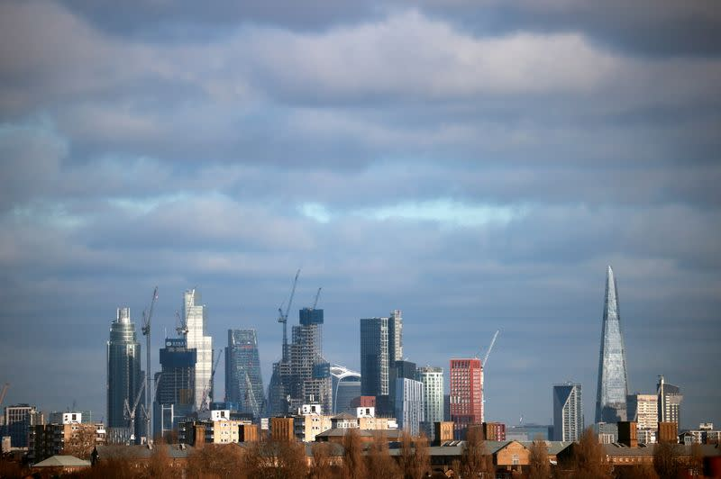 A general view shows the London skyline