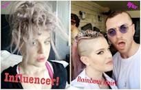 <p><b>When: June 25, 2017</b><br>Kelly Osbourne has never been afraid to switch up her tresses. One of the originators of the unicorn hair trend, Osbourne has been rocking purple-lavender locks for years. And earlier this month the 32-year-old debuted a zipper-braid style with shaved sides, giving us a cool twist on her classic mohawk! Once again, Osbourne has upped her hair game — in honour of NYC Pride over the weekend, the fashion designer got rainbow-coloured hair! She partied alongside singer Sam Smith with her new colour (photo right) and documented the fierce transformation on Instagram — Are you loving her rainbow locks as much as we are? <i> (Photos: Instagram) </i> </p>