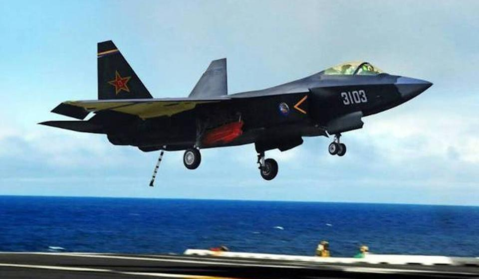 China's FC-31 is up to 12 tonnes lighter than the J-20. Photo: Weibo