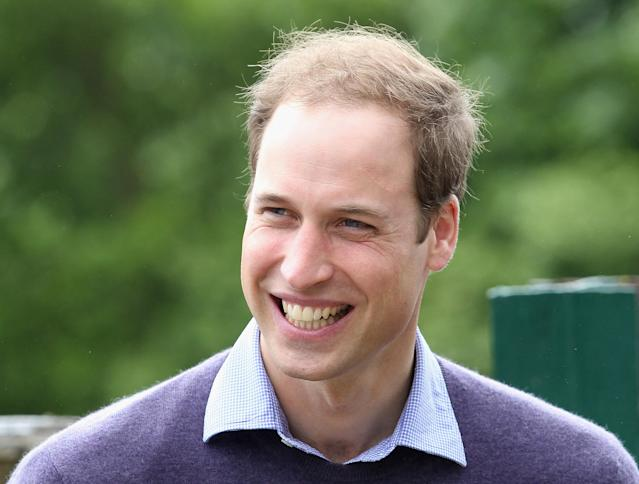 LYMPNE, ENGLAND - JUNE 06: Prince William, Duke of Cambridge smiles as he visits Port Lympne Wild Animal Park on June 6, 2012 in Port Lympne, England. Prince William, Duke of Cambridge was visiting the park to meet staff and rhinos involved in a translocation project. The Aspinall Foundation along with the Tusk Trust and the George Adamson Trust are combining forces to stage a rare translocation of three captive born black rhino to Mkomazi National Park in Tanzania in order to rejuvenate numbers of the black rhino in the area. The three animals are being airlifted in a dedicated DHL Boeing 757 from Manston Airport in Kent direct to Kilimanjaro Int Airport in Tanzania. The three black rhino have been donated by Damian Aspinall, Chairman of The Aspinall Foundation, from their breeding group at Port Lympne Wild Animal Park in Kent. The reintroduction of endangered species to the wild to assist breeding programmes is a major focus of The Aspinall Foundation. Prince William, Duke of Cambridge as Patron of Tusk Trust and a dedicated campaigner against poaching visited the rhinos at Port Lympne ahead of their translocation and today released a speech via the BBC highlighting his dedication to the fight against the illegal trade of ivory. (Photo by Chris Jackson/Getty Images)