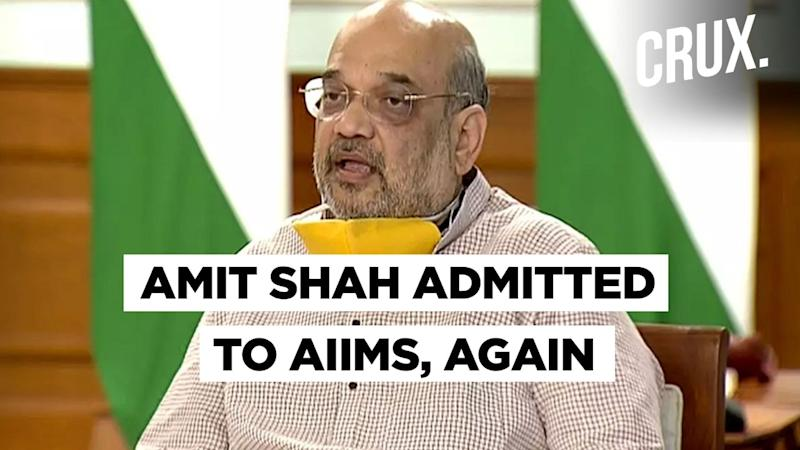 Weeks After Discharge, Home Minister Amit Shah Re-Admitted to AIIMS