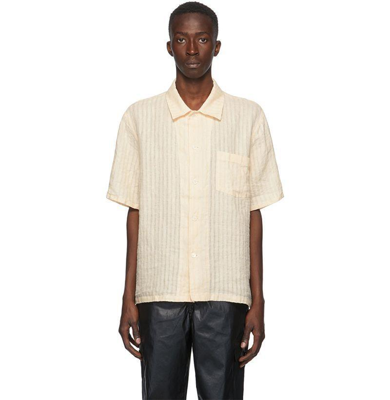 """<p><strong>Our Legacy</strong></p><p>ssense.com</p><p><strong>$225.00</strong></p><p><a href=""""https://go.redirectingat.com?id=74968X1596630&url=https%3A%2F%2Fwww.ssense.com%2Fen-us%2Fmen%2Fproduct%2Four-legacy%2Fyellow-box-short-sleeve-shirt%2F5207851&sref=https%3A%2F%2Fwww.esquire.com%2Fstyle%2Fmens-fashion%2Fg33418169%2Fbest-mens-linen-shirts%2F"""" rel=""""nofollow noopener"""" target=""""_blank"""" data-ylk=""""slk:Buy"""" class=""""link rapid-noclick-resp"""">Buy</a></p><p>The only legacy I want to leave is being the owner of this very good shirt. </p>"""