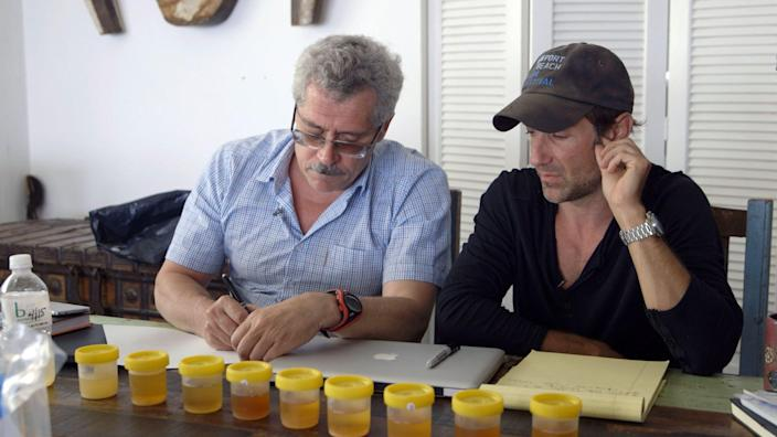Grigory Rodchenkov and Bryan Fogel
