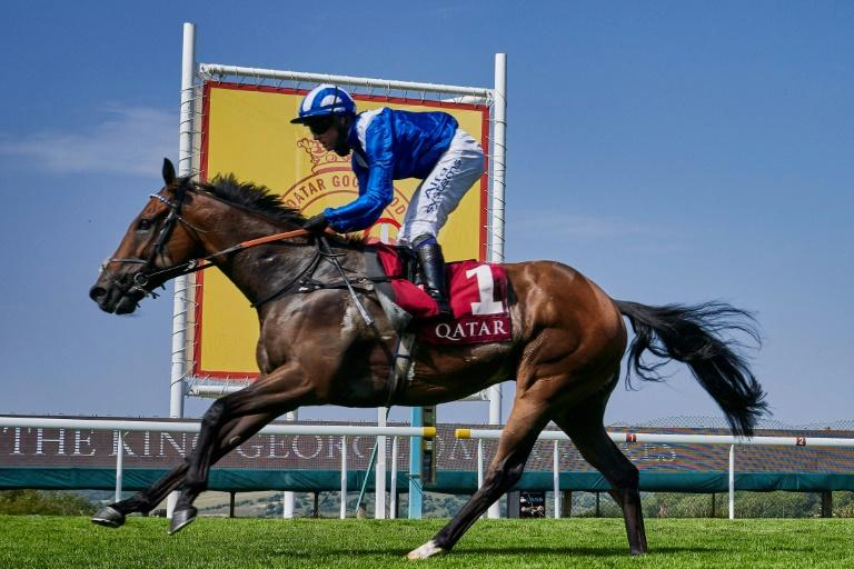 Battaash, ridden by Jim Crowley, won a fourth consecutive King George Stakes at Goodwood