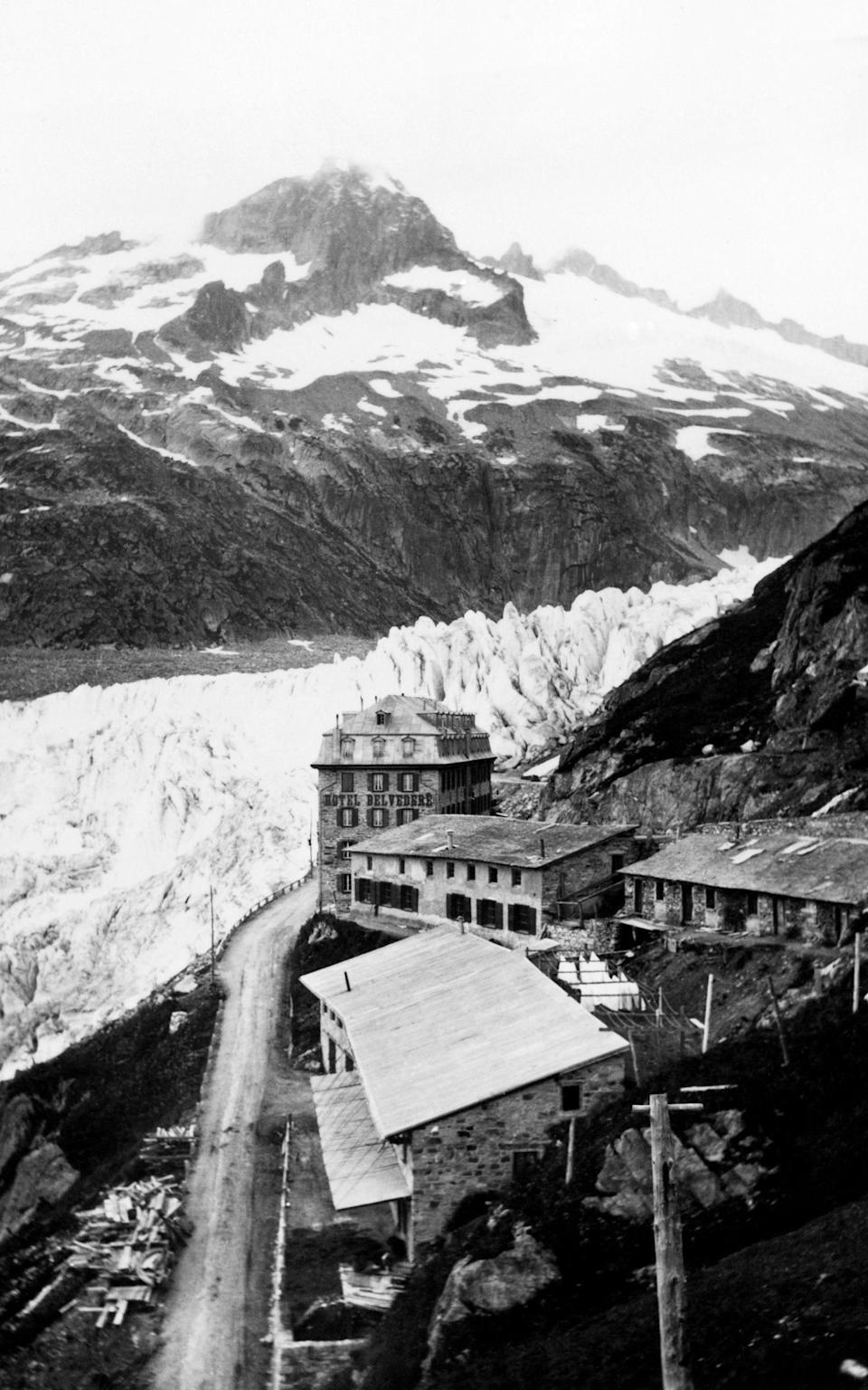The hotel once had a grandstand view of the Rhone Glacier - Getty