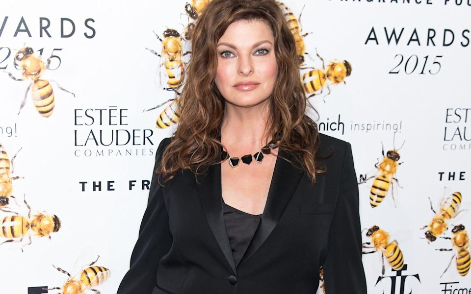 Model Linda Evangelista at an event in 2015 prior to the cosmetic procedure - Gilbert Carrasquillo /FilmMagic