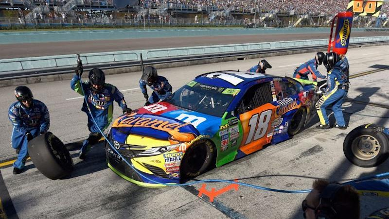 Should Denny Hamlin's team take No. 1 pit stall or leave it for Kyle on
