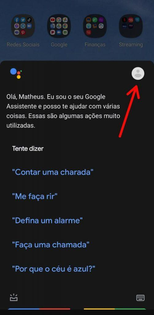 Print do Google Assistente