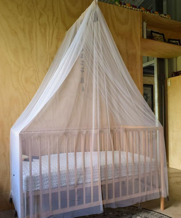 The net softens the room. Photo: Supplied