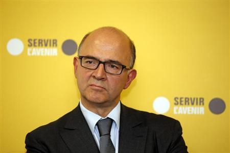 French Finance Minister Moscovici attends the inauguration of the BPI Franche-Comte regional branch in Besancon