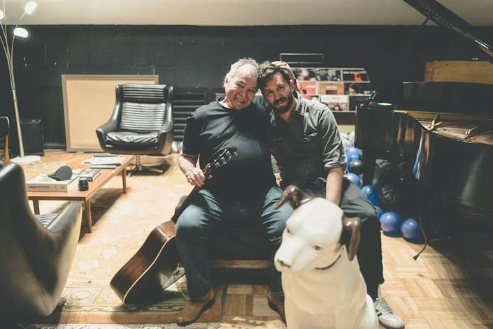 The late John Prine with his eldest son, Jody Whelan. Whelan has taken over running the record label Prine co-founded, Oh Boy Records, now that both founders are gone.