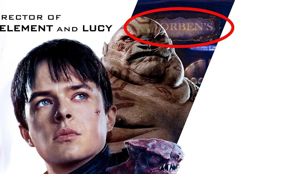 This Easter egg even made it onto the poster for Valerian.