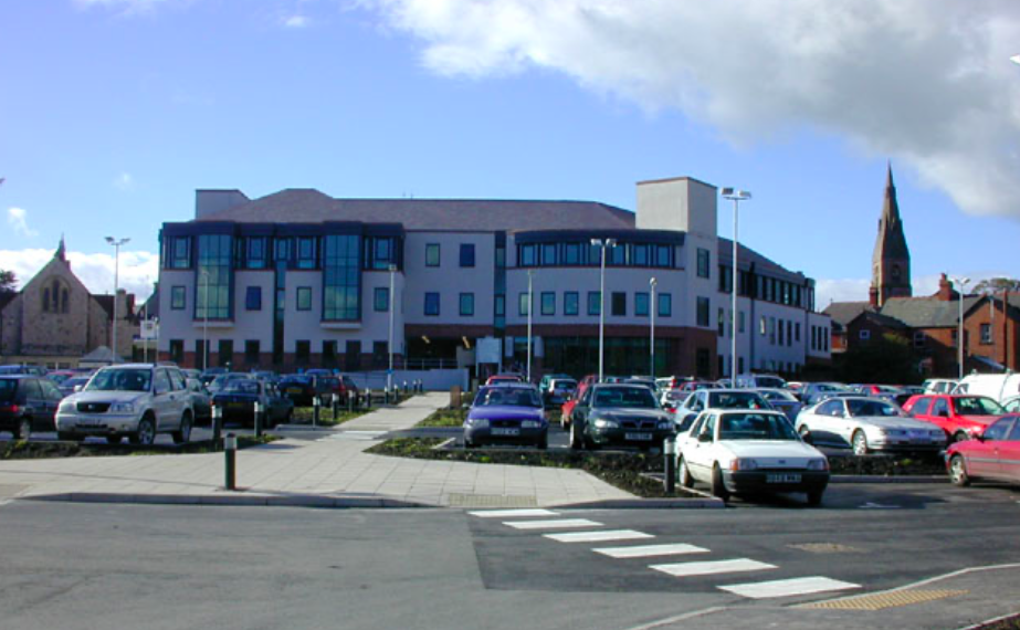 Denbighshire County Hall was told Deborah Mary Roberts was lying face-down with dog leads around her neck. (Geograph)