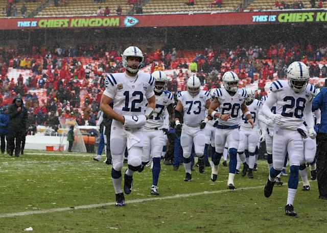 Andrew Luck is walking away from football with at least $100 million. (Getty Images)