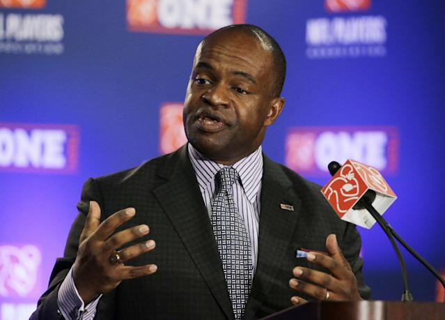 "NFLPA executive director DeMaurice Smith warned that a strike or lockout in 2021 appears to a be a ""virtual certainty."" (AP)"