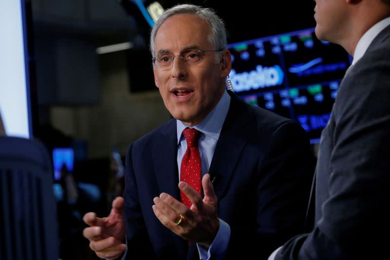 FILE PHOTO: David Kostin, Goldman Sachs chief U.S. equity strategist, speaks during an interview with CNBC on the floor of the NYSE in New York